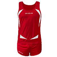 Комплект формы для легкой атлетики Givova Kit Sparta Красный/Белый, M