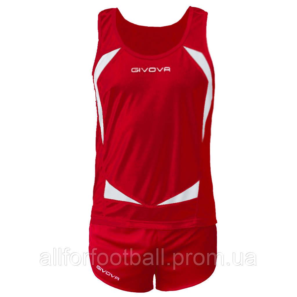 Комплект формы для легкой атлетики Givova Kit Sparta Красный/Белый, M - All for football в Харькове