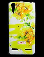 Чехол накладка для Lenovo A6000 / Lenovo K3 силиконовый Diamond Cath Kidston, Sun Flowers