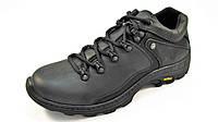 Туфли мужские спортивные STEP WEY кожаные, черные (р.41,42,43)