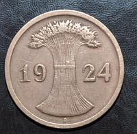 Германия 2 пфенинга 1924 год D