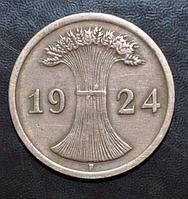 Германия 2 пфенинга 1924 год F
