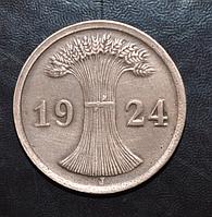Германия 2 пфенинга 1924 год J
