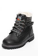 Ботинки для мальчиков на шнуровке черные Н81 (32-37)