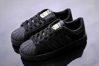 Кроссовки Adidas Superstar, черный, мужские, женские, фото 3