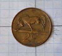 ЮАР 2 цента 1989  (АБ-26)
