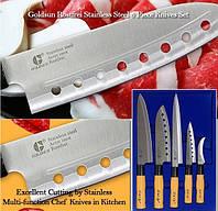 Топ товар!  Набор острых кухонных ножей GOLD SUN F105A - 5 ножей высокого качества!