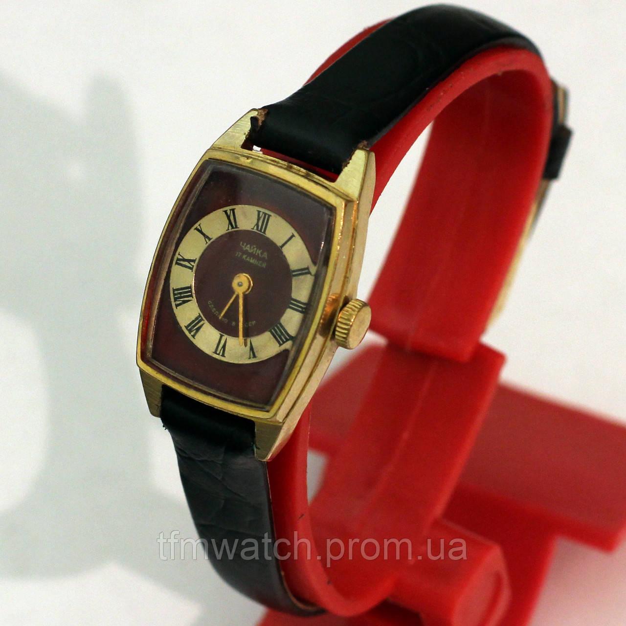 Позолоченные женские часы Чайка