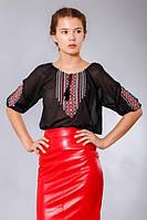 Шифоновая блуза вышиванка женская