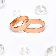 Обручальные кольца Европейка с алмазной гранью 143396, 1.97, 15.5