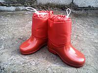 Детские резиновые сапоги утепленные для девочки 26-30 р-ры