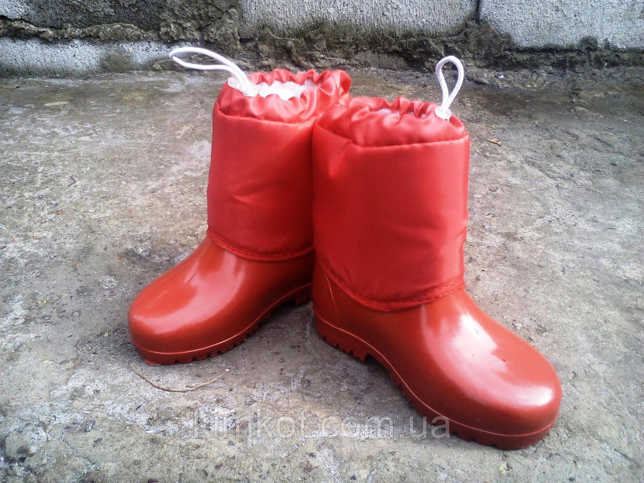694aa9d76 Детские резиновые сапоги утепленные для девочки 26-30 р-ры: продажа ...