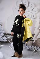 Теплый спортивный костюм на подростка тройка Gap (2 цвета)
