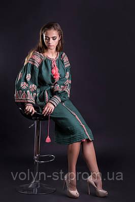 """Платье с рукавом на широком манжете, вышитое """"Княжна"""""""