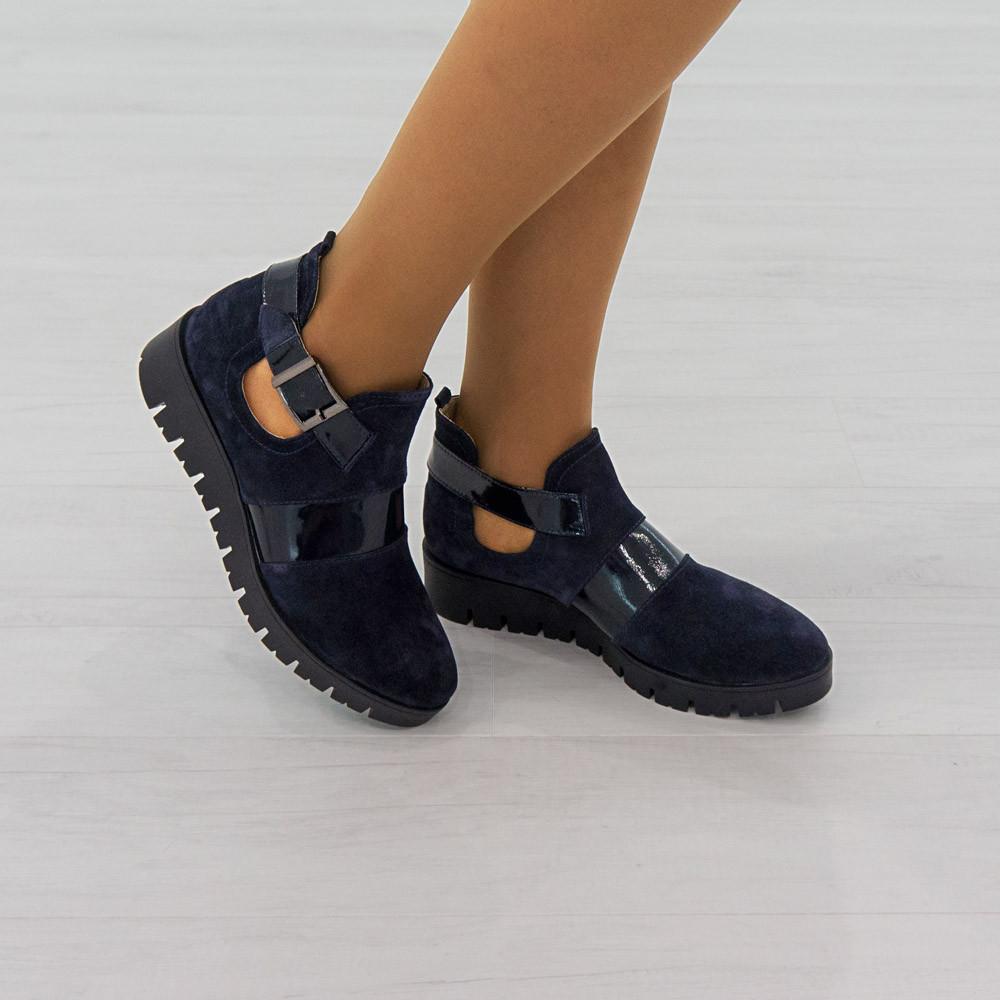 Ботинки Woman's heel 38 темно-синие (О-617)