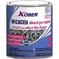 Графітова антикорозійна емаль ефект кованого заліза  по металу Kober 3в1 0,75л