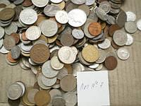 Гора иностранных монет! 500 шт. без России (Лот 7)