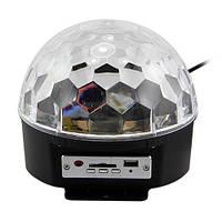 Топ товар! Диско шар с MP3 плеером LED Ball Light с ПДУ и флешкой