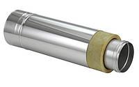 Трубы для дымохода из нержавеющей стали с термоизоляцией в нержавеющем кожухе (1 м)