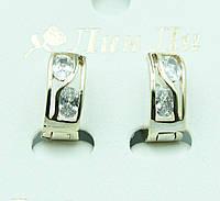 Интересные женские серьги под золото. Классическая бижутерия оптом недорого. 2266