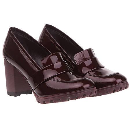 ac2daed756ce Женские туфли лоферы Kabala (на высоком каблуке, бордовые, стильные,  модные, актуальные)