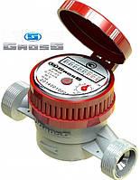 """Счётчик GROSS ETR-UA 20/130мм ГВ Ду-20 (3/4"""")  одноструйный на горячую воду"""