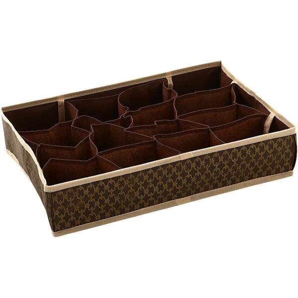 Органайзер с ячейками для вещей коричневый