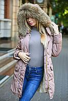"""Женская куртка парка с натуральным мехом """"Cecily"""""""