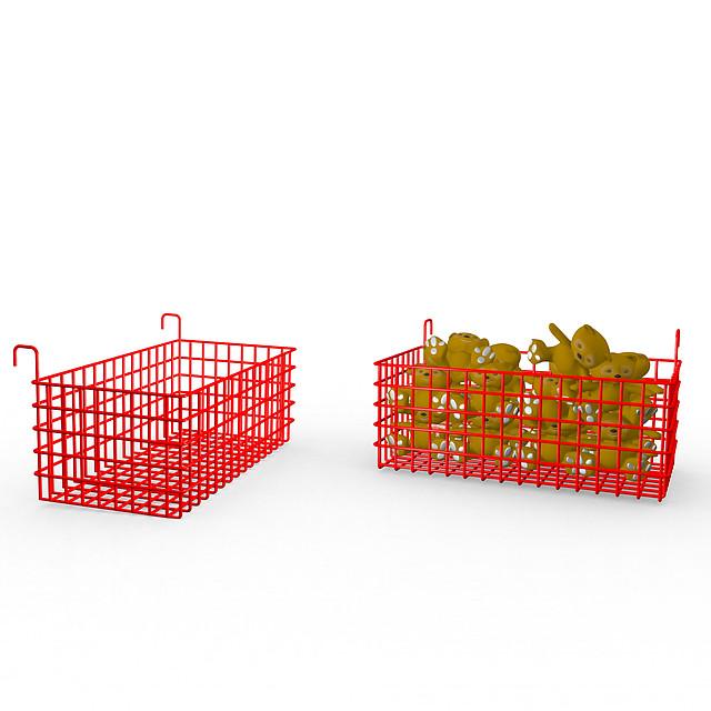 Корзина металлическая торговая