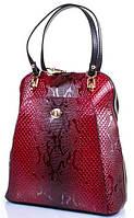 Женская молодежная кожаная сумка-рюкзак DESISAN (ДЕСИСАН) SHI3132-500 Красный