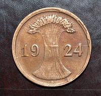 Германия 2 пфенинга 1924 год D (брак )