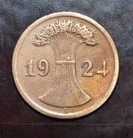 Германия 2 пфенинга 1924 год А