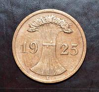 Германия 2 пфенинга 1925 год Е