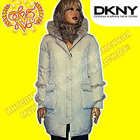 Женский брендовый пуховик DKNY