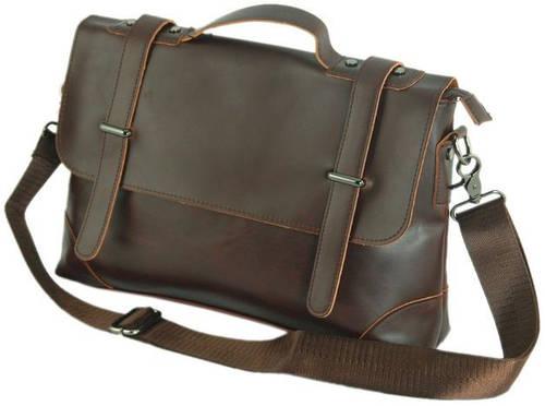 Мужской стильный кожаный портфель Traum 7170-15, коричневый Размеры: 33х24х7 см.