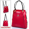 Женская кожаная сумка-рюкзак DESISAN (ДЕСИСАН) SHI3132-4 Красный
