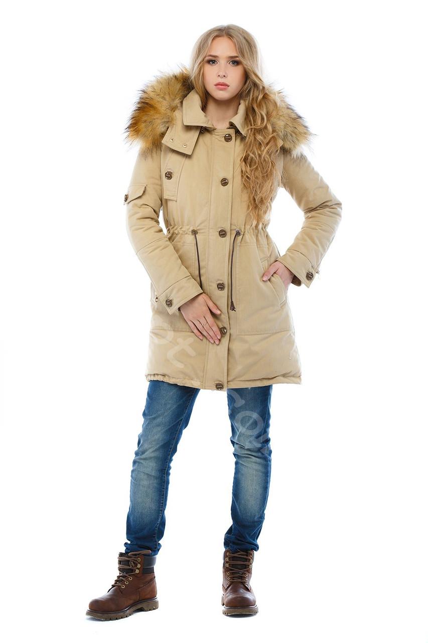 Зимняя парка с капюшоном и искусственным мехом - Styleopt.com в Харькове