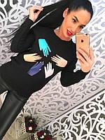 Женский свитер с принтом DB-2314