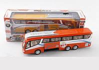 Автобус металлический на батарейках 878