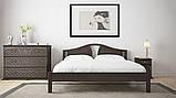 Ліжко півтораспальне з натурального дерева в спальню, дитячу (Вільха) 140х200 Італія ДОК, фото 6