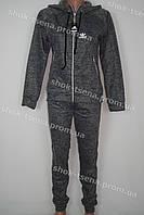 Женский зимний теплый спортивный костюм батал Adidas