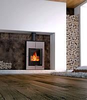 Печь-камин Aquaflam Vario Saporo (с водяным контуром) серый