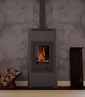 Отопительная печь–камин Aquaflam 12 с водяным контуром п-авт. рег. (черный)
