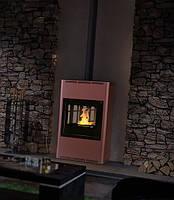 Отопительная печь–камин Aquaflam 25 с водяным контуром п-авт. рег. (бронза)