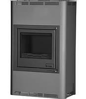 Отопительная печь–камин Aquaflam 25 с водяным контуром авт. рег. (серый)