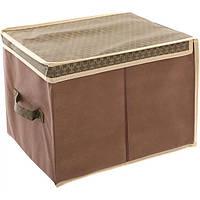 Кофр - короб 30 x 40 x 30 см коричневый, фото 1