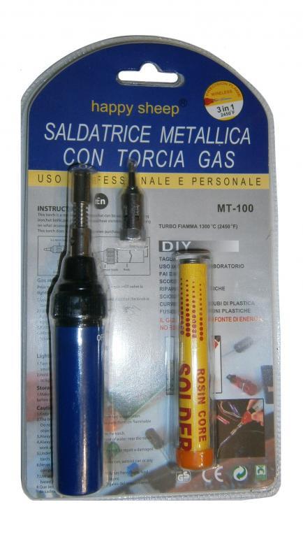 Газовый паяльник, горелка MT-100 (3 в 1)
