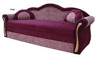 Софа Ария мех., трансформации выкатной  ткань Томас бордо с розовым (Блок+ППУ)