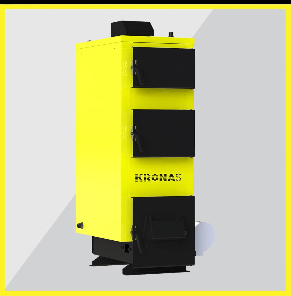 Котел Kronas Unic 15 кВт длительного горения, твердотопливный с турбиной. Купить в Харькове и по Укр