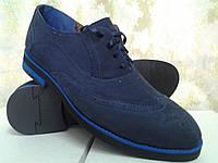 Стильные нубуковые туфли на шнурках Faro